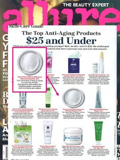 @Allure Magazine rounded up their top  $25 and under anti-aging products and our ANEW CLINICAL Advanced Retexturizing Peel made the cut.