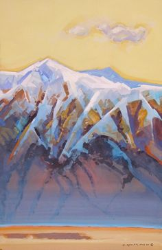 Study, View From the Air, a Passing Cloud - Stephen Quiller - acrylic