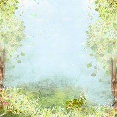 Fond vert champêtre