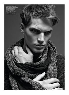 Lars Burmeister and Geoffroy Jonckheere photographed by Saverio Cardia and styled by Lucio Colapietro with pieces from Emporio Armani's Fall/Winter 2012 Collection for the September 2012 issue of Essential Homme.