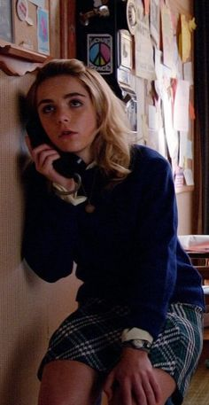 Sally Draper in her school girl look during season 7 of Mad Men.