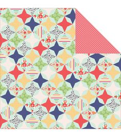 """Handmade Double-Sided Cardstock 12""""X12""""-Quilt"""