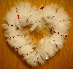 My Valentine Tulle Wreath