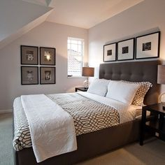 Contemporary Bedroom Grey, Dark Brown, Black And Pops Of Color Design, Pictures, Remodel, Decor and Ideas - page 7: