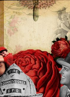 DEEP LOVE = HOT FIRE -  Collage - Marcia Albuquerque (para o grupo Os Colagistas - criado por Marcia Albuquerque e Mauricio Planel - FaceBook)     marcia@substancia4.com.br