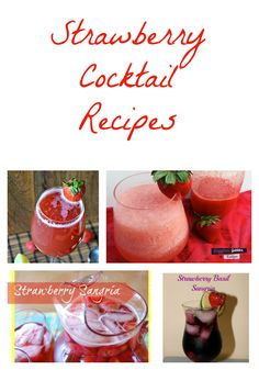 There's No Wine in Mom: Strawberry Cocktail Recipes