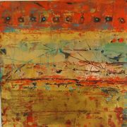 Original art for sale at UGallery.com | Palace Wall by Debra Corbett | mixed media artwork | http://www.ugallery.com/mixed-media-artwork-palace-wall