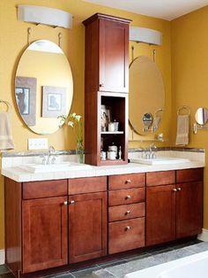 creative bathroom storage ideas double sink