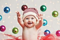 29 Babies Who Totally Nailed Their First Christmas Photoshoot Some really awesome ideas that I want to try with our little one this year :-)