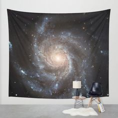 Beautiful, unique and colorful wall art to compliment your home or your garden. This wall tapestry can be used as a studio photography backdrop.  This listing is for one wall tapestry Messier 77 Spiral Galaxy   NASA Released image of the Messier 77 spiral galaxy. Digitally enhanced by Marianna Mills  Available in three distinct sizes, my Wall Tapestries are made of 100% lightweight polyester with hand-sewn finished edges. Featuring vivid colors and crisp lines. These highly unique and…