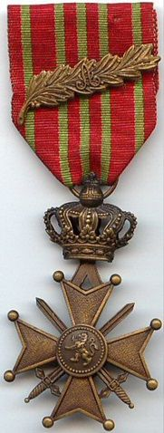 The CROIX de GUERRE,  a military decoration of the Kingdom of Belgium, was established by royal decree on October 25, 1915.  It was primarily awarded for bravery or other military virtue on the battlefield. The award was re-established on July 20, 1940 by the Belgian Government, exiled in London, for recognition of bravery and military virtue, including by allied forces during World War II.