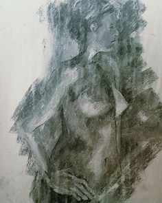 Heather Stivison-Quick figure study, drawn with an eraser on tones of vine charcoal. Vine Charcoal, Figure Drawing, My Drawings, Vines, Study, Black And White, Instagram Posts, Artwork, Painting