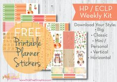 Cute Critter Friends – Free Printable Planner Stickers