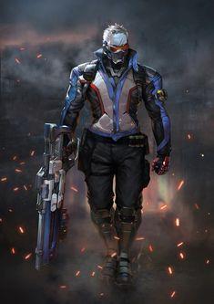 Soldier: 76, ing-goo H on ArtStation at https://www.artstation.com/artwork/JBadz