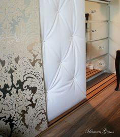 Mirror malm sticky paper to make fake mirrored furniture!