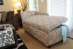 Lazy Liz on Less: Storage chaise lounge  {complete tutorial on how to build -- WOW!}