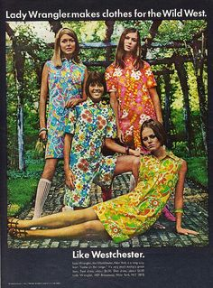 Lady Wrangler in florals... March 1968 - TEEN magazine