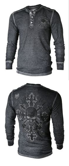BEST Seller! Must Have for Spring! Men's Acid washed Light Weight Thermal Henley - 60% cotton, 40% poly - Light Weight Thermal -Twin dyed fabric with Acid Garment Washed - Logo buttons on front placket - Contrast seam lines - Imported    http://www.amazon.com/shops/vadesign