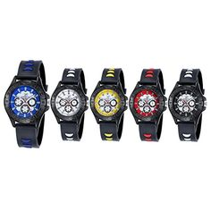 Navion Cool Boys Girls Sport Casual Silicone Wrist Watches Wholesales 5 Pcs ** You can get more details by clicking on the image.Note:It is affiliate link to Amazon.