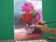 Pintura Em Tela A Óleo-Como Pintar Vaso De Vidro-irando Dúvidas Sobre Pintura-Vaso de Vidro - Escudeiro