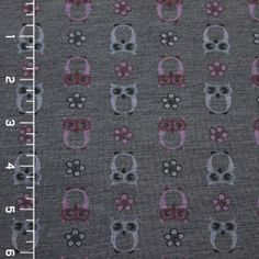 Owls on Charcoal Gray Modal Cotton Jersey Knit Fabric - Girl Charlee