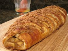 caramel apple crisp pretzel braid-The Kitchen Prescription #pretzelbraid #copycat #desserts