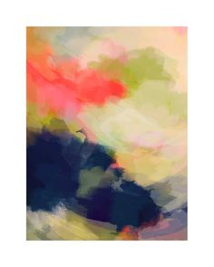 """""""August Wind"""" - Art Print by Alison Jerry Designs in beautiful frame options and a variety of sizes."""