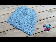 Bonnet bébé toutes tailles tricot / Baby beanie (hat) knitting all sizes (english subtitles) - YouTube