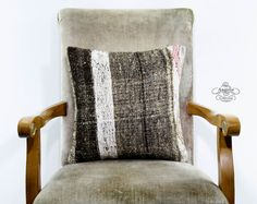 Vintage Grey Striped Bohemian Turkish by AnatoliaCollection