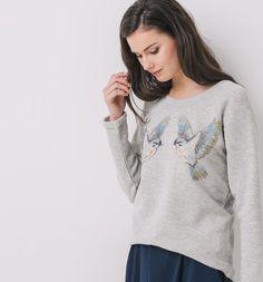 Fleecy sweatshirt grey - Promod
