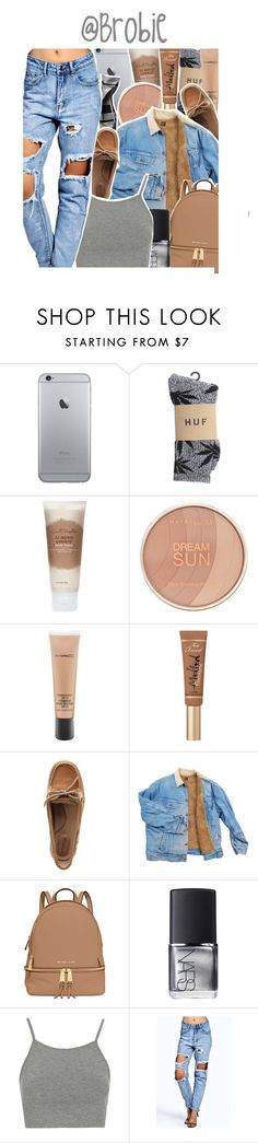 """"""": 379"""" by brobie ❤ liked on Polyvore featuring HUF, Carol's Daughter, Maybelline, MAC Cosmetics, Too Faced Cosmetics, Sperry, MICHAEL Michael Kors, Aesop, NARS Cosmetics and Topshop"""
