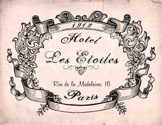 Hotel Les Etoiles Designer  Fabric Block  5 x 7 by sherrifairy, $4.99