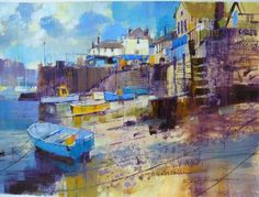Low Tide, Fowey by British Contemporary Artist Chris FORSEY