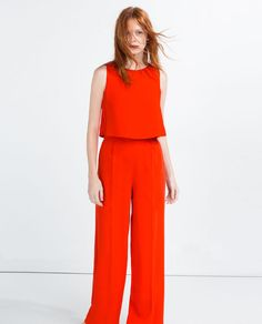 Image 2 of LONG LAYERED JUMPSUIT from Zara