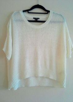 Kup mój przedmiot na #vintedpl http://www.vinted.pl/damska-odziez/swetry-z-dzianiny/11280960-bialy-asymetryczny-sweterek-marki-hm