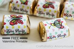 I'm so excited to be apart of the 2014 Craftaholics Anonymous Creative Team! For my first post, I'm sharing this adorable FREE Love Bug Printables…the perfect little gift for Valentines Day! I'm not sure why I chose to create bug printables…because I have an irrational fear of them. Now I live in Arizona and I've got lovely bugs like Children of the Earth (I would