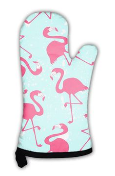 9882ddc189b7 Oven Mitt, Pattern With Pink Flamingos