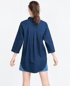 Image 4 of DENIM SHIRT from Zara