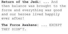 Return of the Jedi vs The Force Awakens