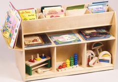 Toy And Book Organizer Educational Toys Puppets Wooden Waiting Room