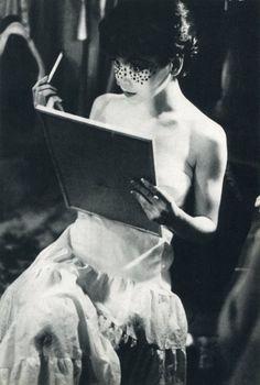 Makeup, 1958.  by Saul Leiter