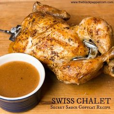 Swiss Chalet Secret Sauce Copycat Recipe - dipping for chicken, french fries and more! - Swiss Chalet Secret Sauce Copycat Recipe – dipping for chicken, french fries and more! Dipping Sauces For Chicken, Sauce For Chicken, Bbq Sauces, Chicken Gravy, Turkey Recipes, Chicken Recipes, Dinner Recipes, Cat Recipes, Sauce Recipes