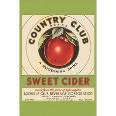 Buyenlarge 'Country Club Sweet Cider' Vintage Advertisement