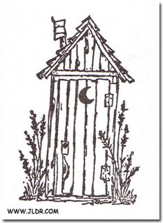 outhouse line drawings - Google Search