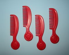 Vintage 1980s Kenner~LOT of 4 STRAWBERRY SHORTCAKE DOLL HAIR COMBS~Accessories | eBay