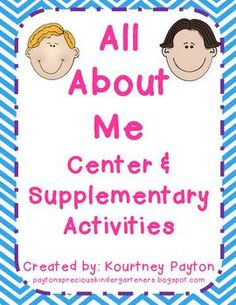 All About Me Centers for Kindergarten!  Perfect for the Beginning of the Year!