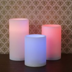 LampLust // Color Changing Flameless Candles // Set of 3