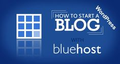 HOW TO START A WORDPRESS BLOG ON BLUEHOST     Blogging has been a fun experience for many and it's much advisable for everyone to give blogging a try at some point of time. This article will show and give ideas on how to set up a word press blog on blue host step by step.