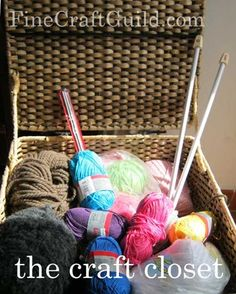 craft storage tips for knitters