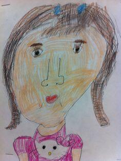 Grade 2 self portrait.